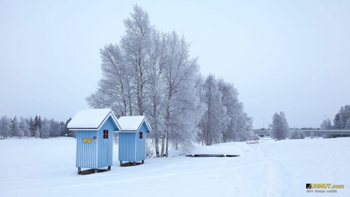 Värtön uimaranta tammikuussa 2011, Junnu.com 4.1.2011