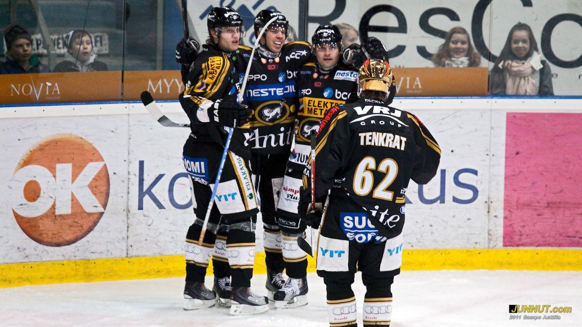 Joonas Donskoi teki Kärppien molemmat maalit, Kärpät - HIFK 25.1.2011