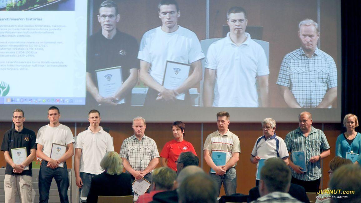 Vuoden Tekijät palkittiin Jääkiekkopäivillä 14.8.2011,  [Junnut.com]