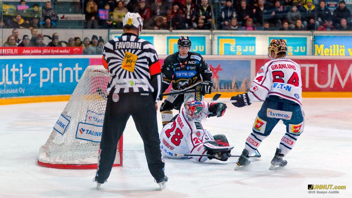 Maalivahti Dennis Endras, HIFK 17.2.2012 JUNNUT.com