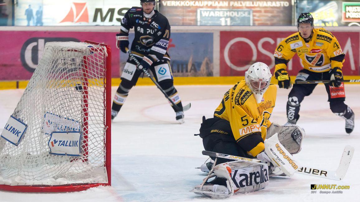 Maalivahti Mikko Koskinen, KalPa. Kärpät   - KalPa, SM-liiga 16.10.2012