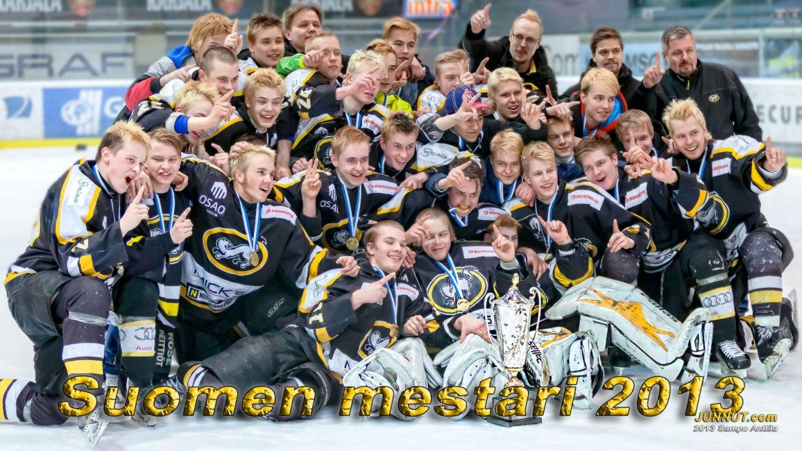 Oulun Kärpät C Suomen mestari 2013