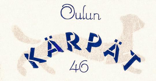 Kärppä-logo Nykäsen muistiinpanojen kanessa