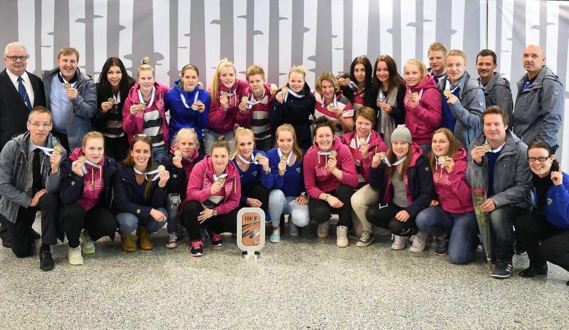 Suomen Naisleijonat otti MM-pronssia. Kuva Leijonat.fi